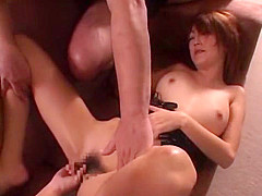 Amazing Japanese chick Kaede Matsushima in Horny Blowjob, Threesome JAV movie