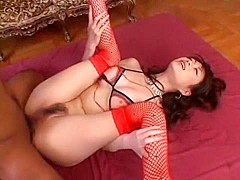 Crazy Japanese whore Akari Hoshino in Amazing Double Penetration, Lingerie JAV clip