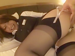 Best Japanese chick Saki Kataoka in Incredible Softcore, Stockings/Pansuto JAV video
