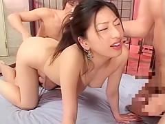 Fabulous Japanese model Ran Asakawa in Hottest Threesomes, Fetish JAV video