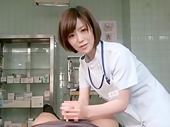 Incredible Japanese slut Kotone Amamiya in Amazing Threesomes, Medical JAV video
