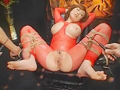 Hottest Japanese model Rio Hamasaki in Horny BDSM, Big Tits JAV video