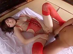 Amazing Japanese girl Kurara Horie in Exotic Masturbation/Onanii, Stockings/Pansuto JAV clip