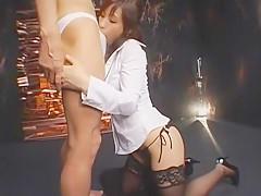 Crazy Japanese whore Nao Ayukawa in Fabulous Blowjob, Stockings JAV scene