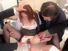 Horny Japanese model Shiori Hazuki in Best Fingering, Secretary JAV video
