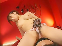 Incredible Japanese slut Rino Kasuga in Amazing Cunnilingus, Big Tits JAV scene