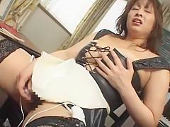Amazing Japanese chick Aki Mizuhara, Yui Kazuki, Aya Shirayuki in Horny Stockings, Close-up JAV scene