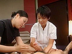 Fabulous Japanese girl Kaho Kasumi, Sasa Handa, Meguru Kosaka in Crazy Handjob JAV movie