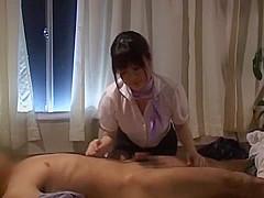 Fabulous Japanese girl Meguru Kosaka, Ayami Sakurai, Kaho Kasumi in Best Blowjob JAV scene