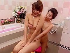 Horny Japanese model Hinano Momosaki in Amazing Lesbian, Massage JAV video