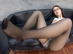 Hottest Japanese slut in Fabulous Office, Footjob JAV movie