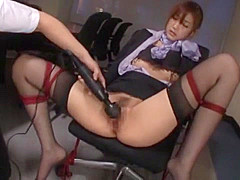 Incredible Japanese chick Ichika Kanhata in Hottest Toys, Office JAV clip