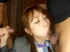 Crazy Japanese chick Yui Aikawa in Fabulous Lingerie, Fishnet JAV clip