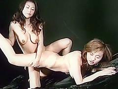 Exotic Japanese slut Anna Hayashi, Marie Sugimoto in Best Couple, Lesbian JAV scene