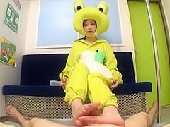 Amazing Japanese whore Haruki Sato in Incredible Amateur, Handjob JAV clip