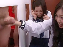 Fabulous Japanese girl Airi Minami in Exotic Glory Hole, Amateur JAV clip