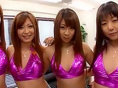 Incredible Japanese slut Hitomi Kitagawa, Sae Aihara, Haruki Sato in Hottest Group Sex, Amateur JAV clip