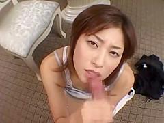 Amazing Japanese model Karen Kisaragi in Incredible Big Tits, Blowjob JAV scene