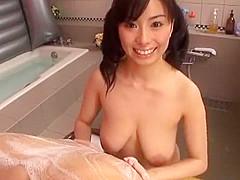 Horny Japanese whore Hina Hanami in Best Shower, Handjob JAV clip