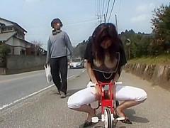 Horny Japanese girl Riko Tachibana in Amazing Public, Solo Female JAV clip