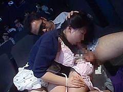 Fabulous Japanese whore Miharu Izawa, Akari Satsuki, Minako Uchida in Incredible Cunnilingus, Group Sex JAV clip