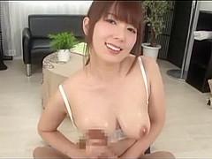 Exotic Japanese model Yui Hatano in Fabulous Couple, Cumshot JAV clip
