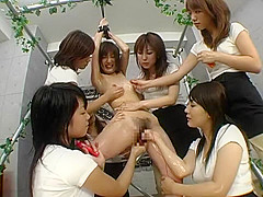 Horny Japanese model Minami Ebihara, Yura Nanami, Marin Izumi in Hottest Squirt, Toys JAV movie