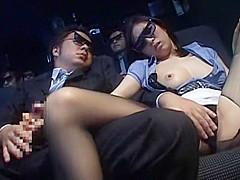 Crazy Japanese girl Miharu Izawa, Minako Uchida, Akari Satsuki in Amazing Public, Cunnilingus JAV movie