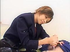 Hottest Japanese slut in Horny Handjob, Fetish JAV movie