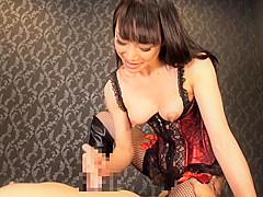 Incredible Japanese girl in Crazy POV, Handjob JAV clip