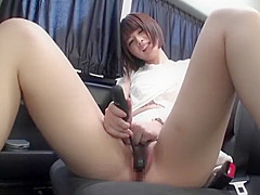 The thread pulling masturbation from the in the car.