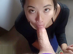 Asian cocksucker does her chores aSukisukigirl Green Eyes WMAF POV BLOWJOB