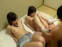 Two Jav Teens Fucked By Their Tutor Shaved Pussy's And Creampie