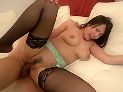 in legs Ebony stockings pantyhose