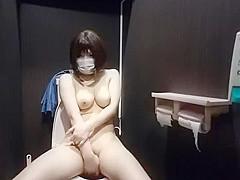 nude in toilet
