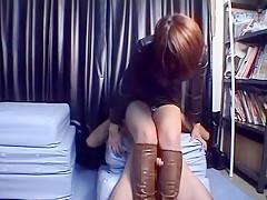 Kinky Jap dominatrices torture their serfs