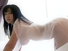 Cute busty Japanese showing perfect tits