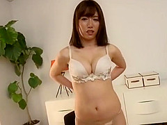 Hot Super Pretty & Medium Breasted Jap Woman, Goes Fully Naked!