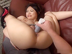 Fujiko Komine gets her juicy cunt filled with toys