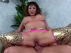 Ava Devine punished anally and gags on cock