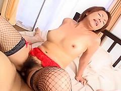 Horny Rio Kurusu gets a pile of cum over her face!