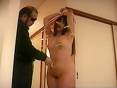 Small tit Asian enjoying some bdsm