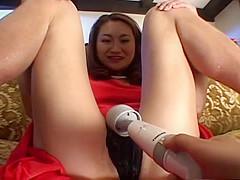 Wild vibrator session with sexy Reika Minami