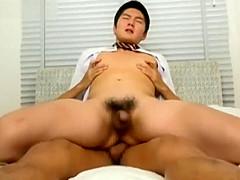 Cute muscle Japanese boy got fucked hard