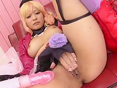 Horny Japanese model in Exotic JAV censored Small Ti...