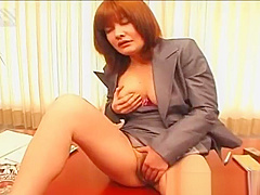 Fingering her pussy porn redhead asian has