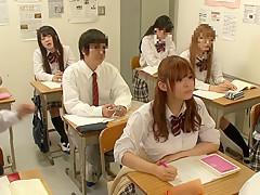 Amazing Japanese model Riona Minami, Chika Hiroko, Ramu Hoshino, Ayane Shinoda in Exotic college, group sex JAV clip