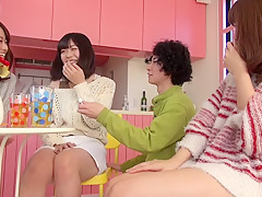 Best Japanese whore Saki Kanasaki, Mei Akizuki, Ririka Suzuki, Amateur in Hottest kitchen, group sex JAV scene