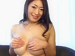 Exotic Japanese chick Reiko Kobayakawa in Incredible big tits, solo girl JAV scene