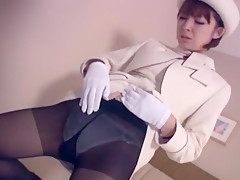 Horny Japanese slut Yuzu Shiina in Fabulous Secretary, Stockings/Pansuto JAV clip